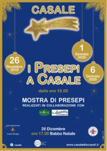I presepi a Casale - dicembre gennaio 2019 2020 (locandina)